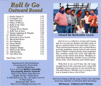 Back cover of CD Uncommon Sailor Songs - 49303 Bytes